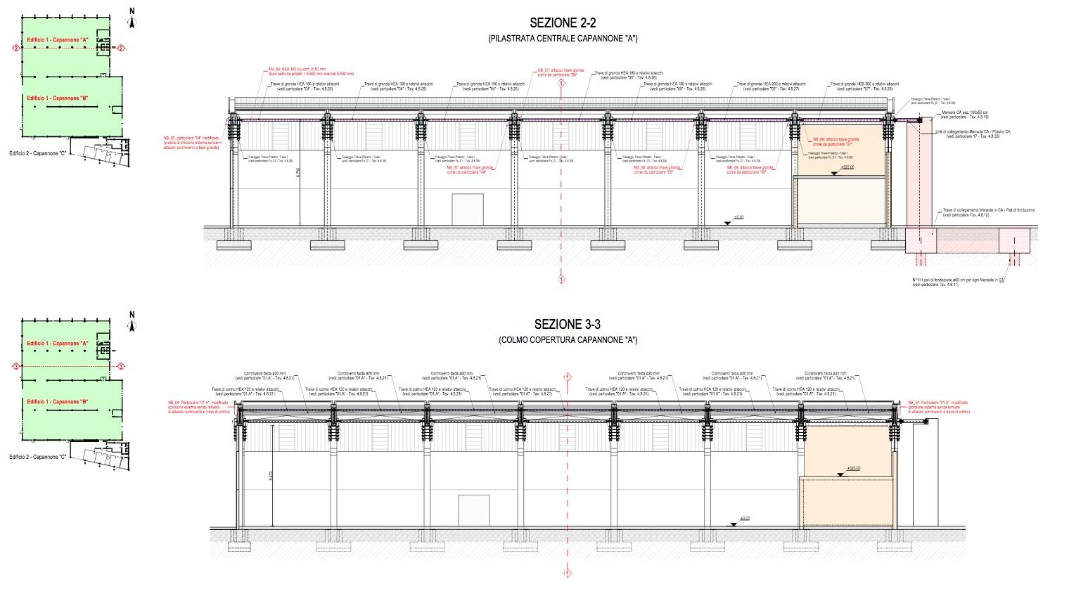 Fabuleux Miglioramento sismico Capannone industriale RFC Rettifica Corghi  UW57