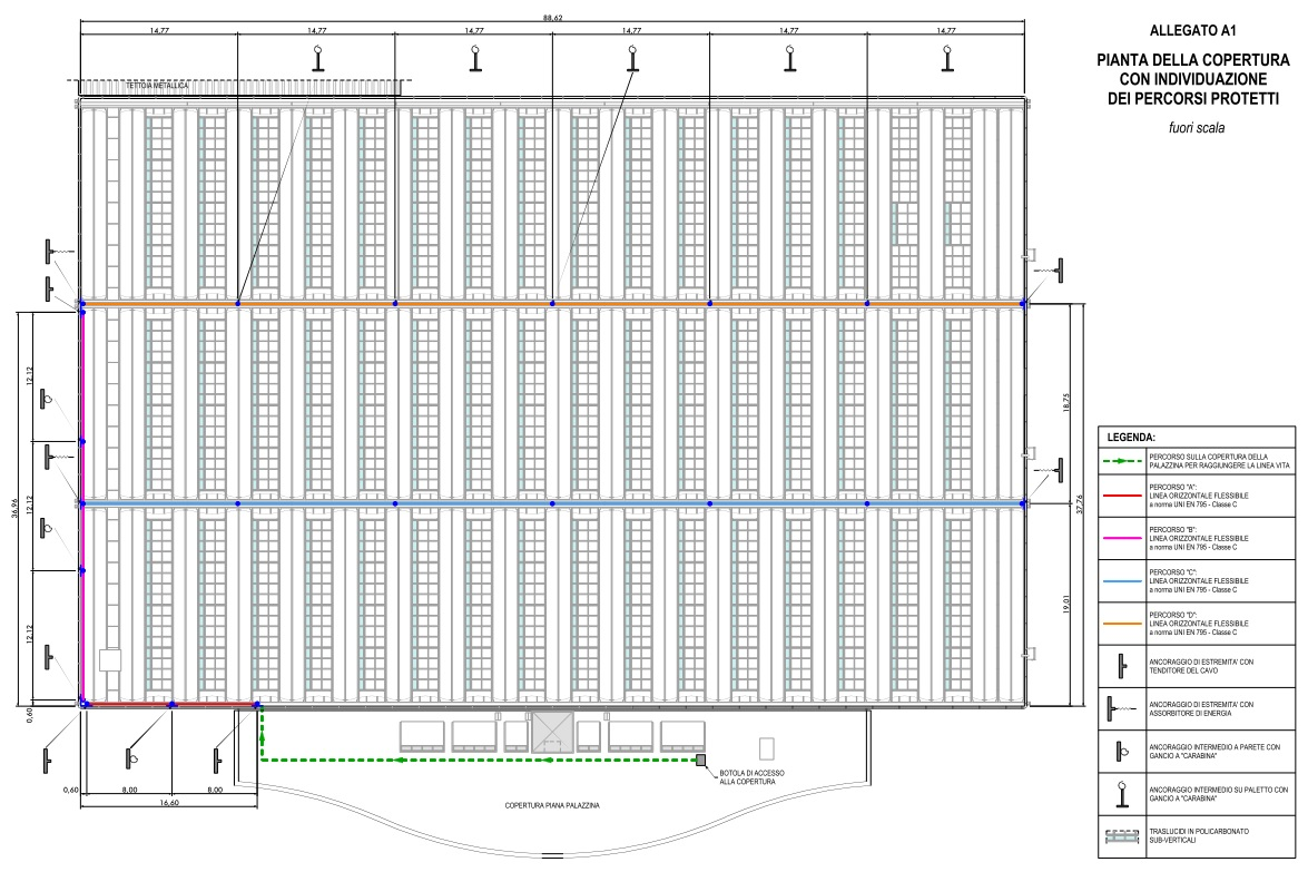 Fabuleux Linea Vita su copertura Capannone Industriale - C.P.R. Ingegneria YW58