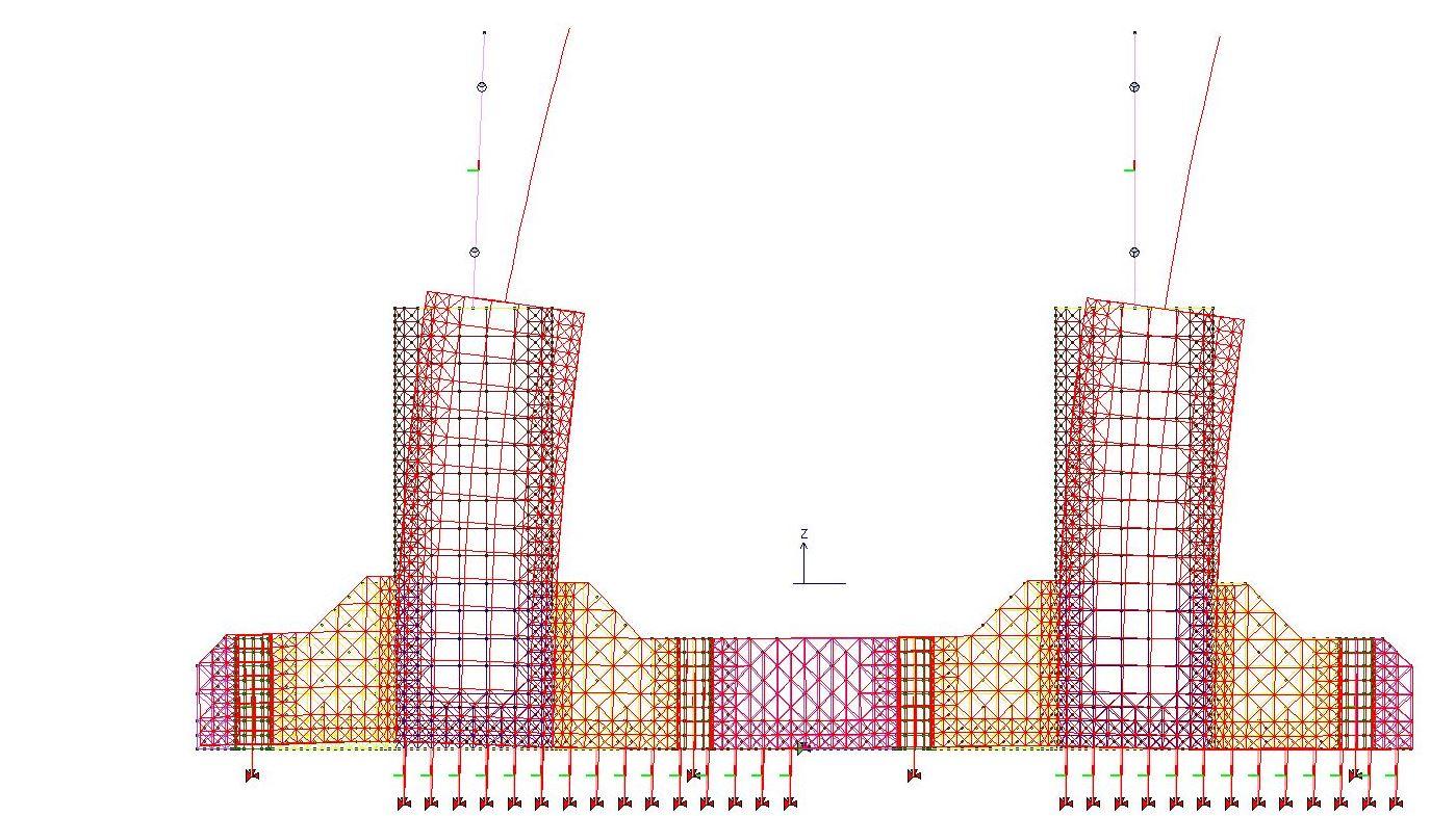 Deformazione piastra con contatto NL calcestruzzo